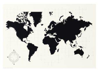 ikea abril 2016 PE560283 pizarra calendario tablero fibras pintura acrilica mapamundi