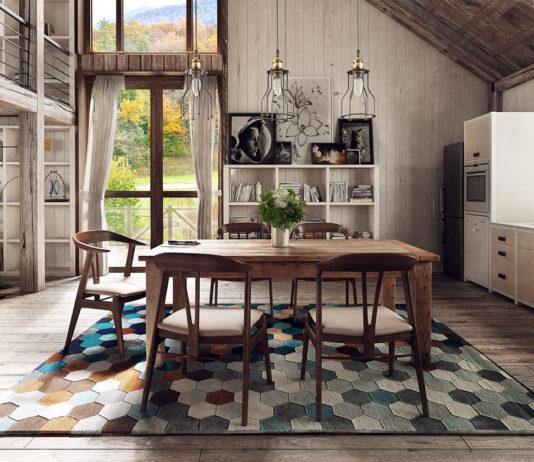 alfombra para el comedor