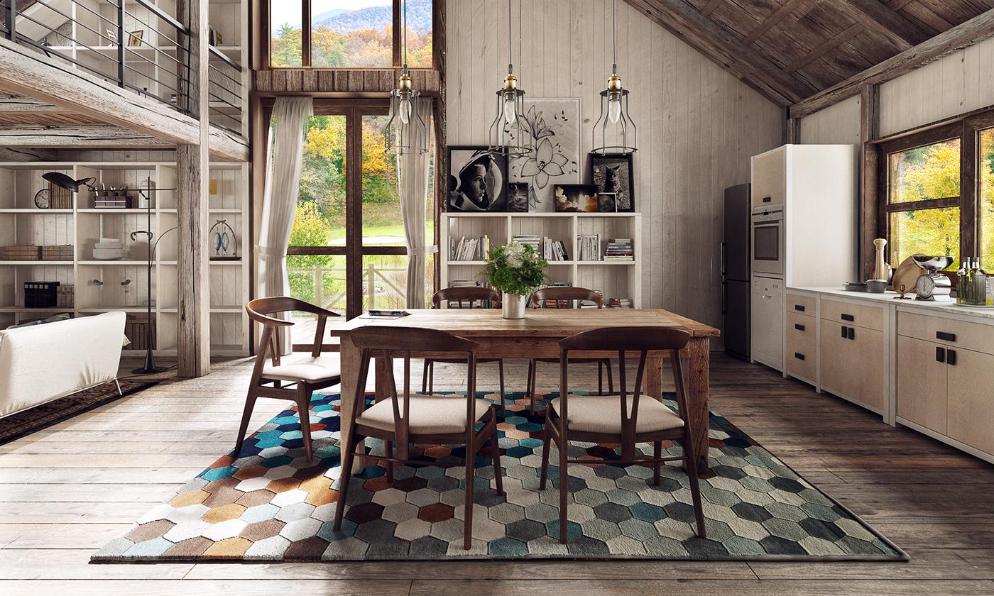 alfombra para el comedor de distintos materiales