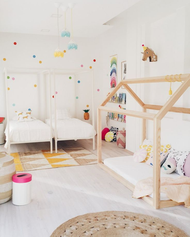 Habitación para niños compartida