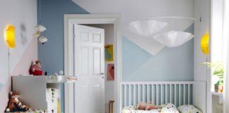 Habitación para niños con textiles colridos