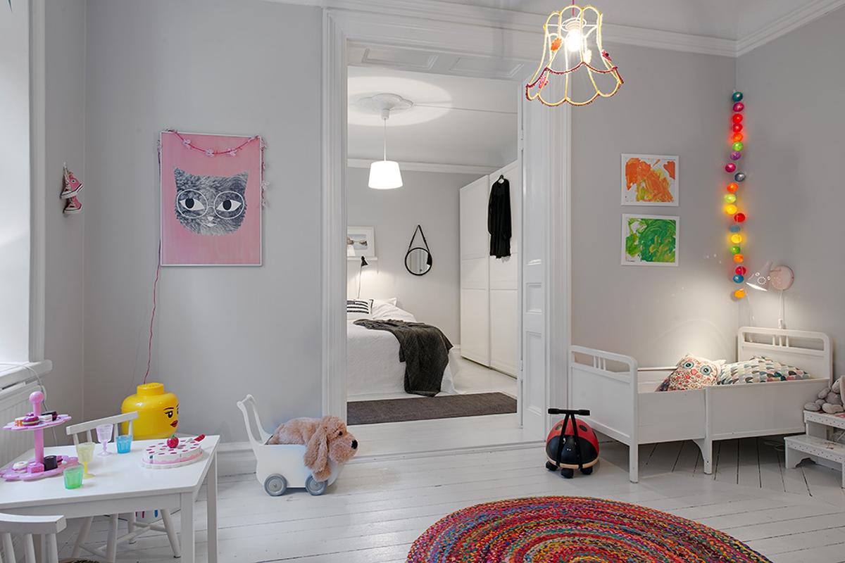 Habitación para niños en gris
