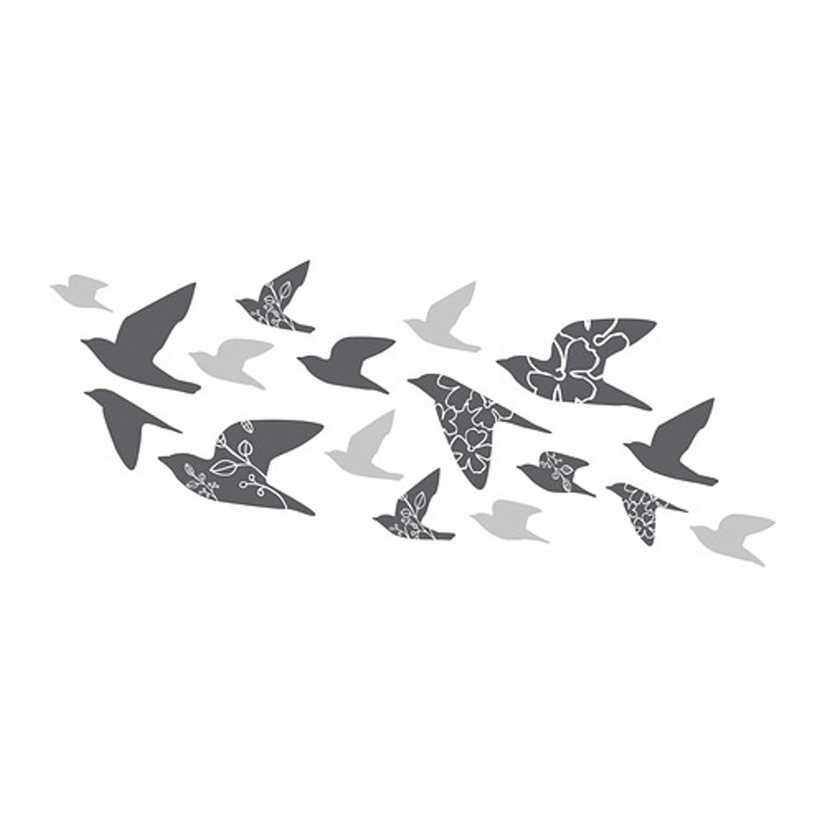 vinilos decorativos de Ikea - mod. Slätthult, pájaros al vuelo