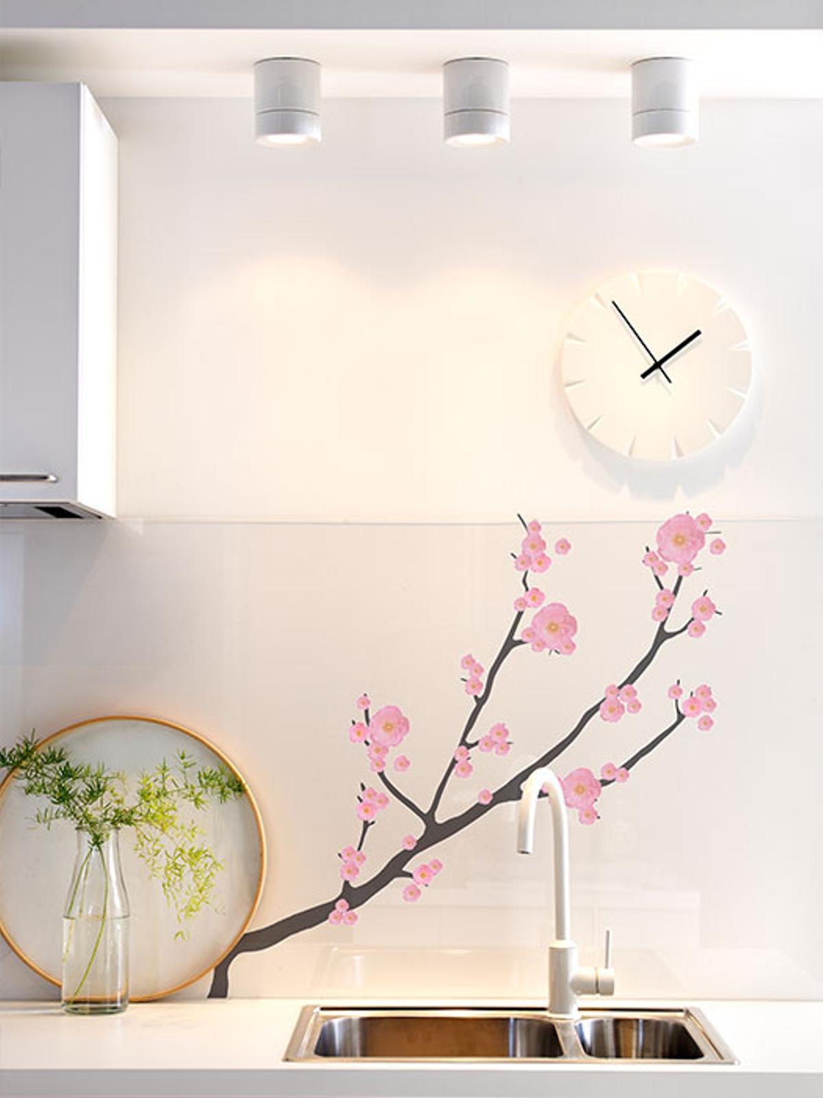 vinilos decorativos de Ikea - mod. SLÄTTHULT rosado
