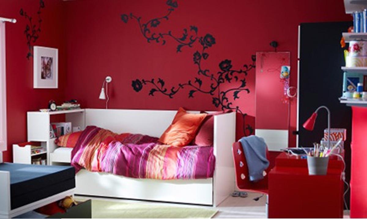 vinilos decorativos de Ikea - dormitorio infantil con vinilos
