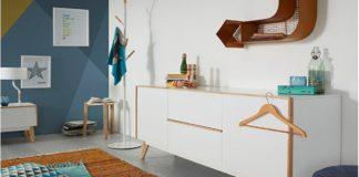 aparadores estilo nórdico en blanco y madera
