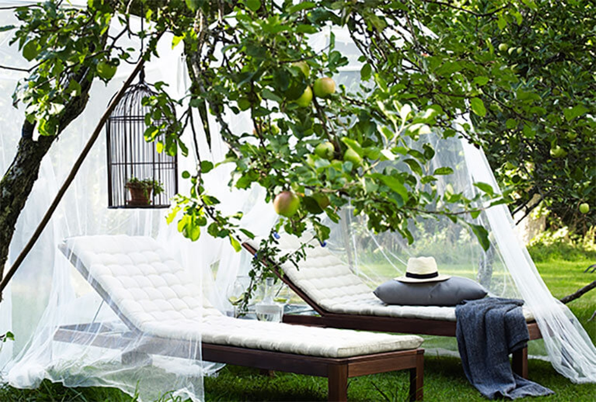 muebles para el jardín de IKEA - Tumbona Ápplaro
