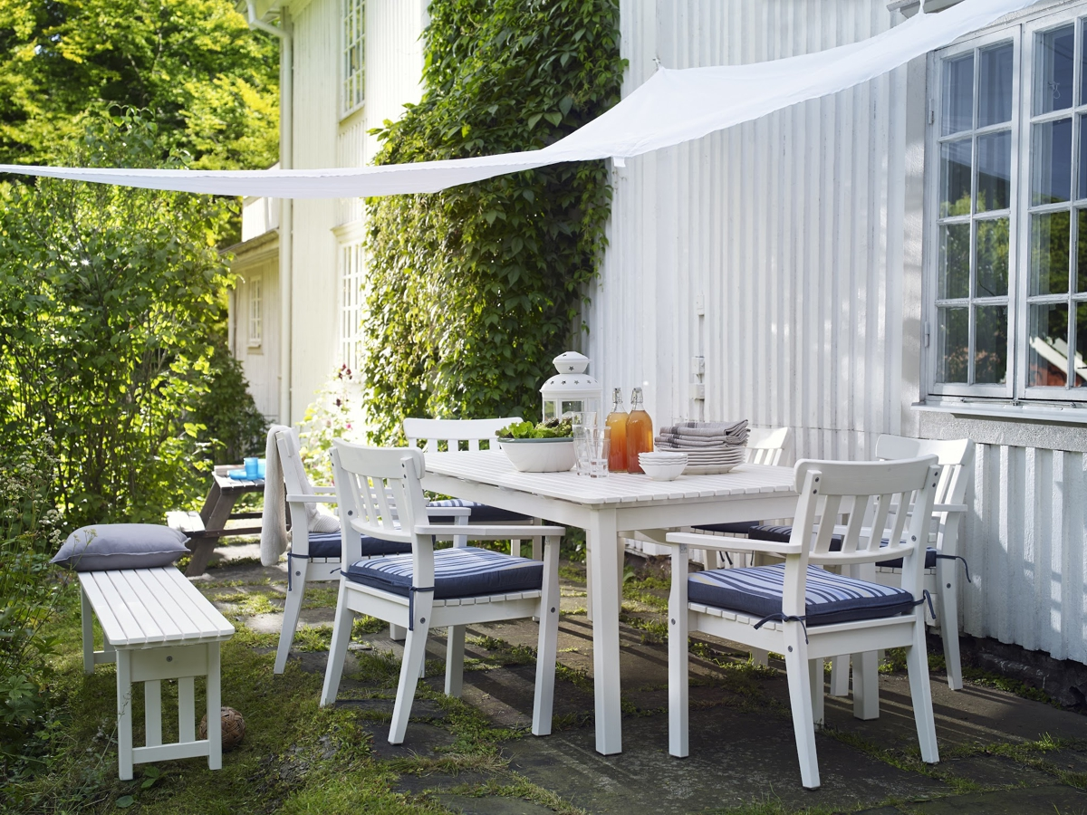 muebles para el jardín de IKEA - mesa ÄNGSÖ rectangular