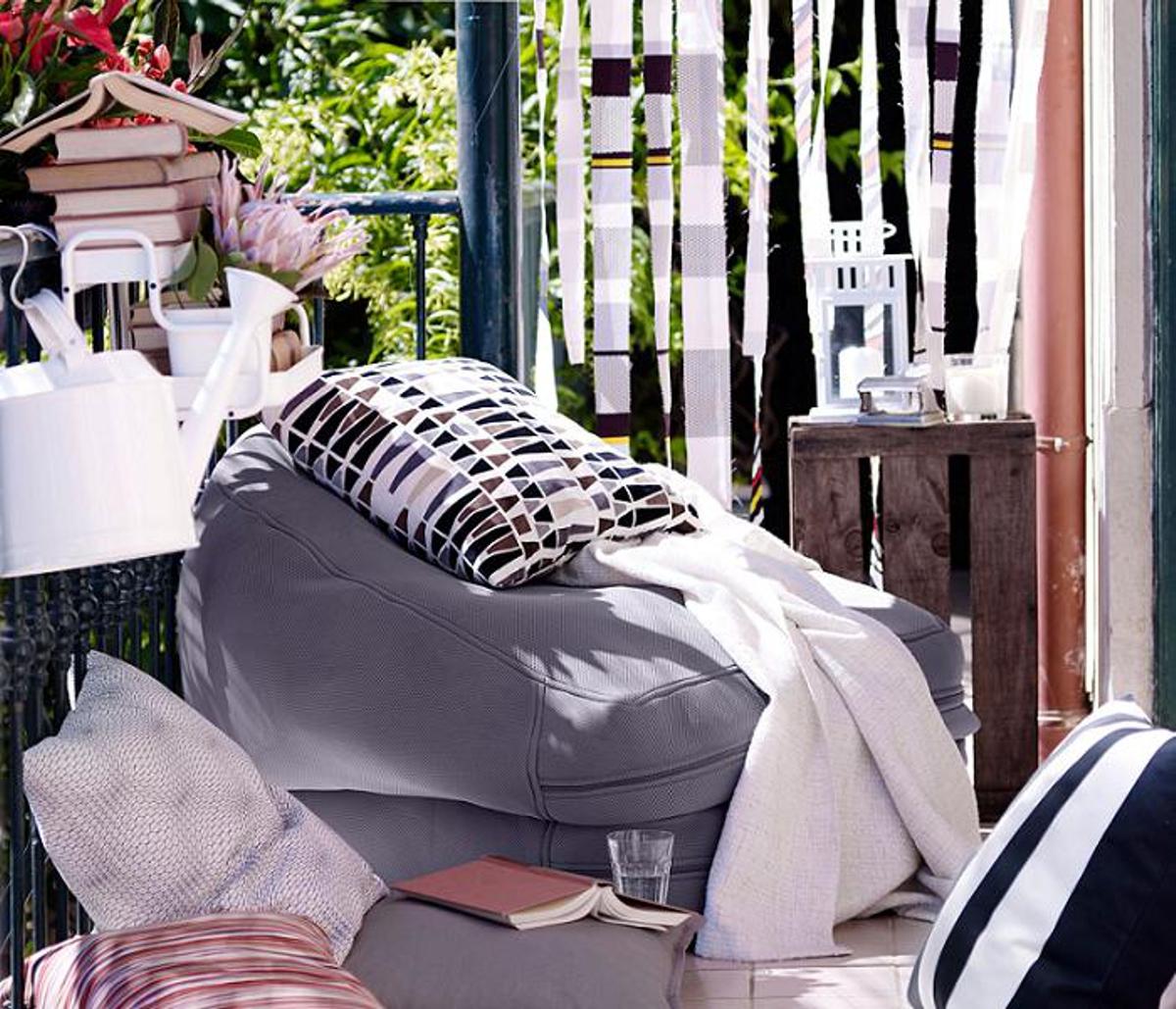 muebles para el jardín de IKEA - Puf Bussan