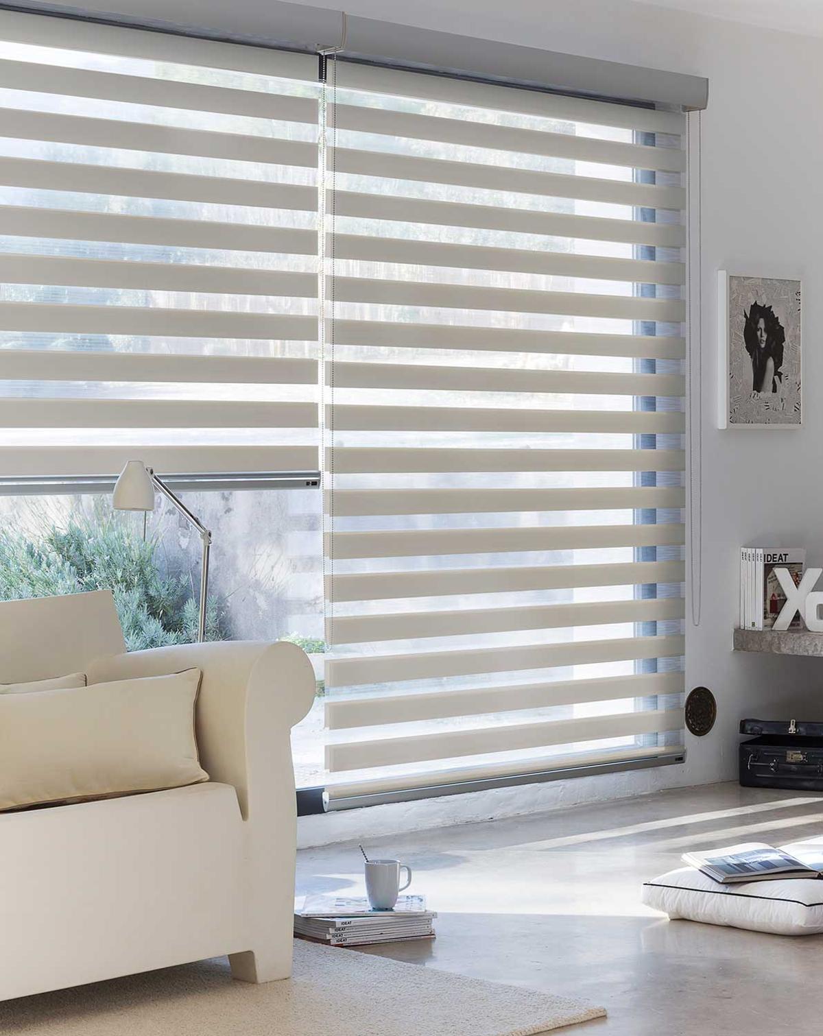 cortinas modernas - estor enrollable dia y noche