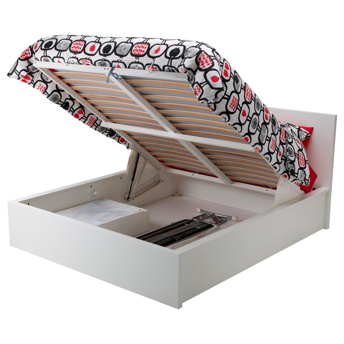 Camas abatibles de ikea - modelo Malm en blanco