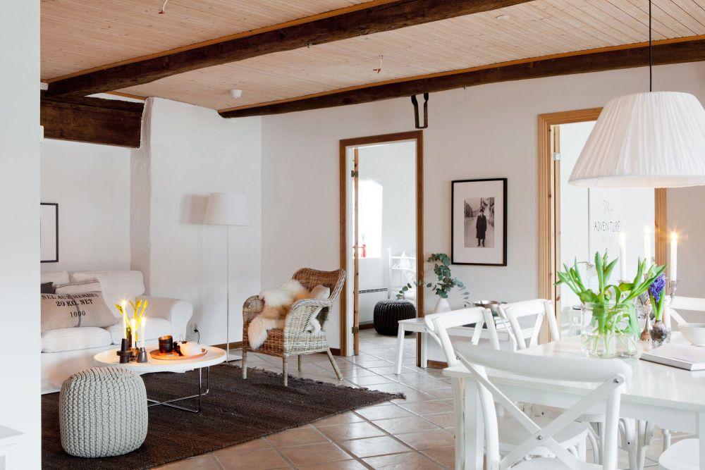 casas decoradas con Ikea - salón rústico