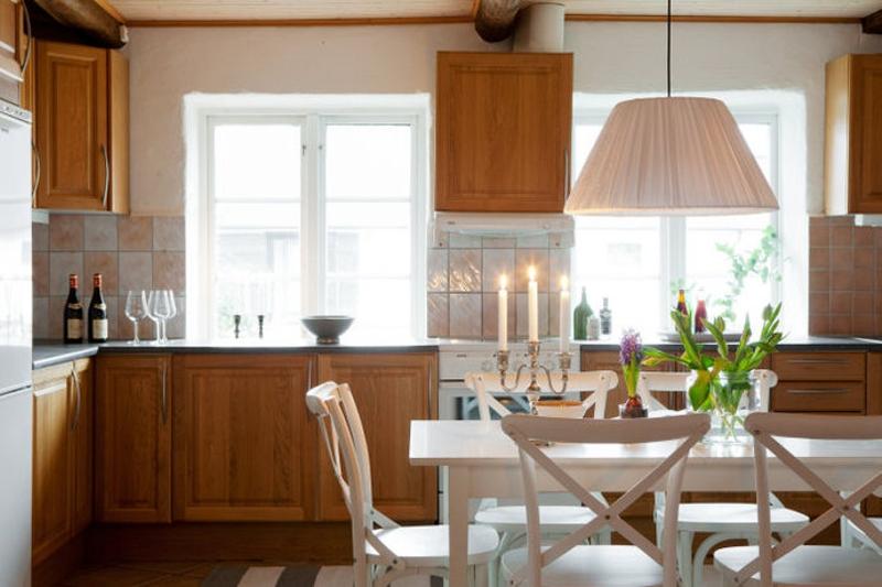 casas decoradas con Ikea - cocina rústica