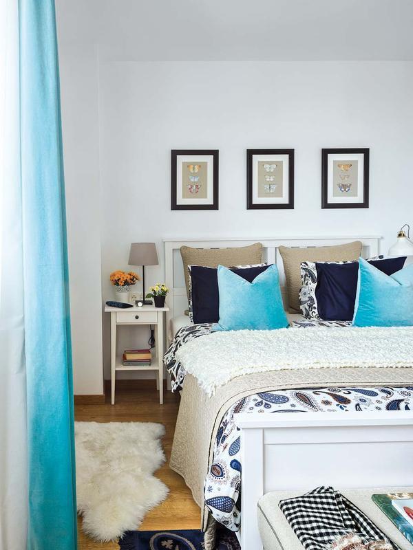casas decoradas con Ikea - en tonos turquesa
