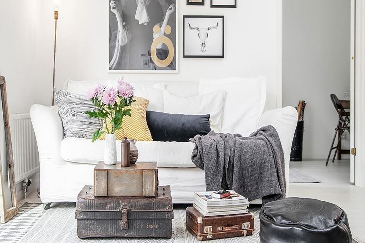 amueblar un piso completo - maletas antiguas