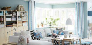 amueblar un piso completo - salones ikea en azul