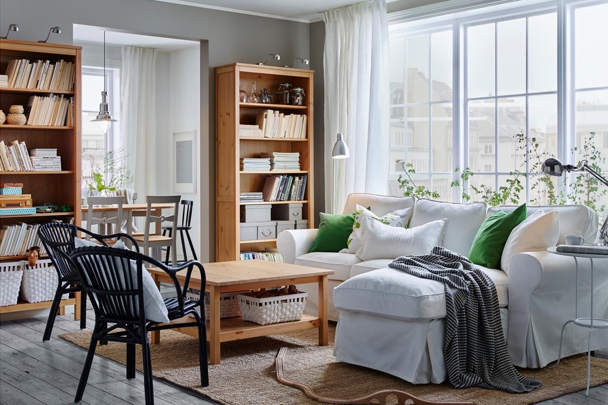 amueblar un piso completo - sofá blanco