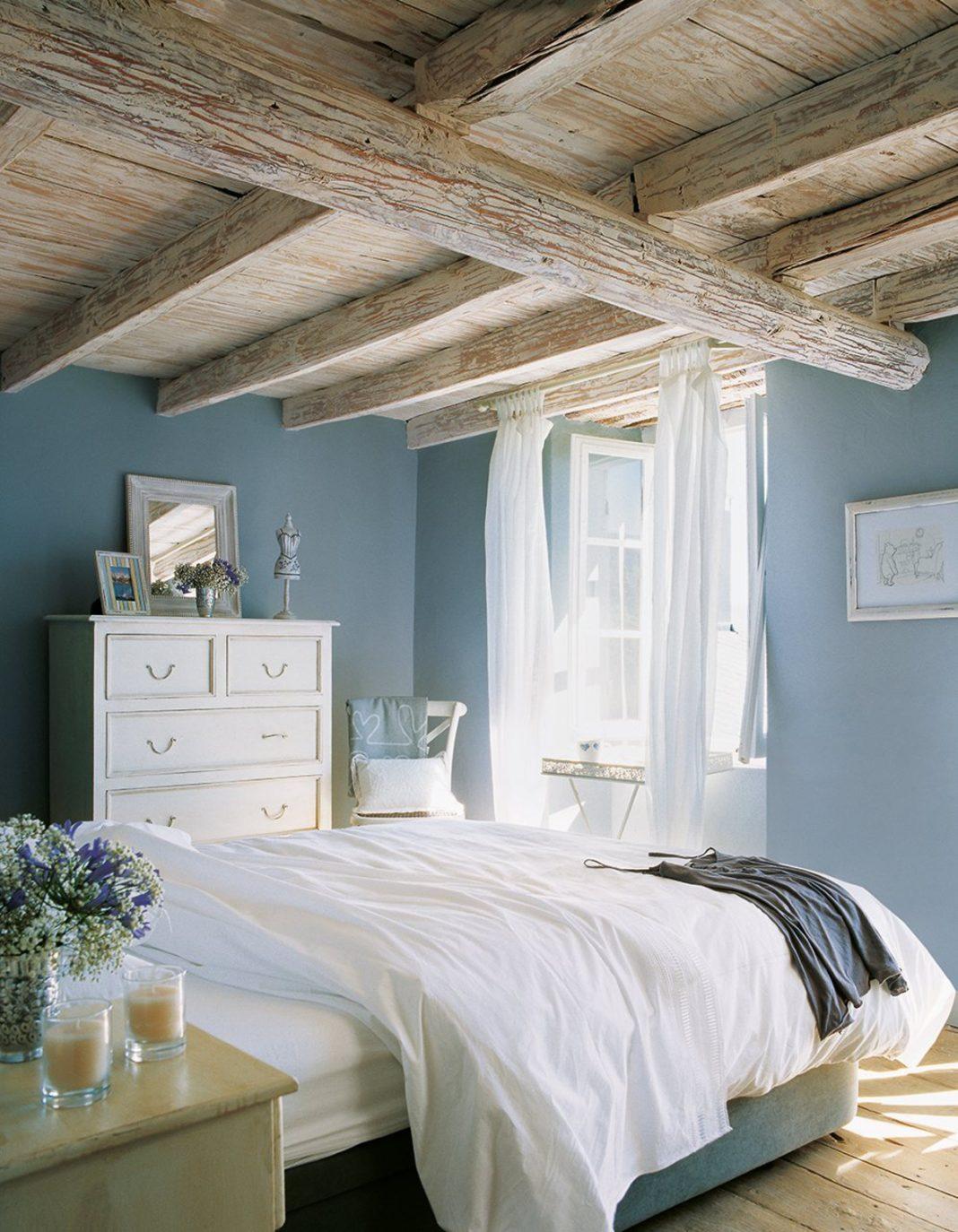 dormitorio para el verano- cortinas livianas