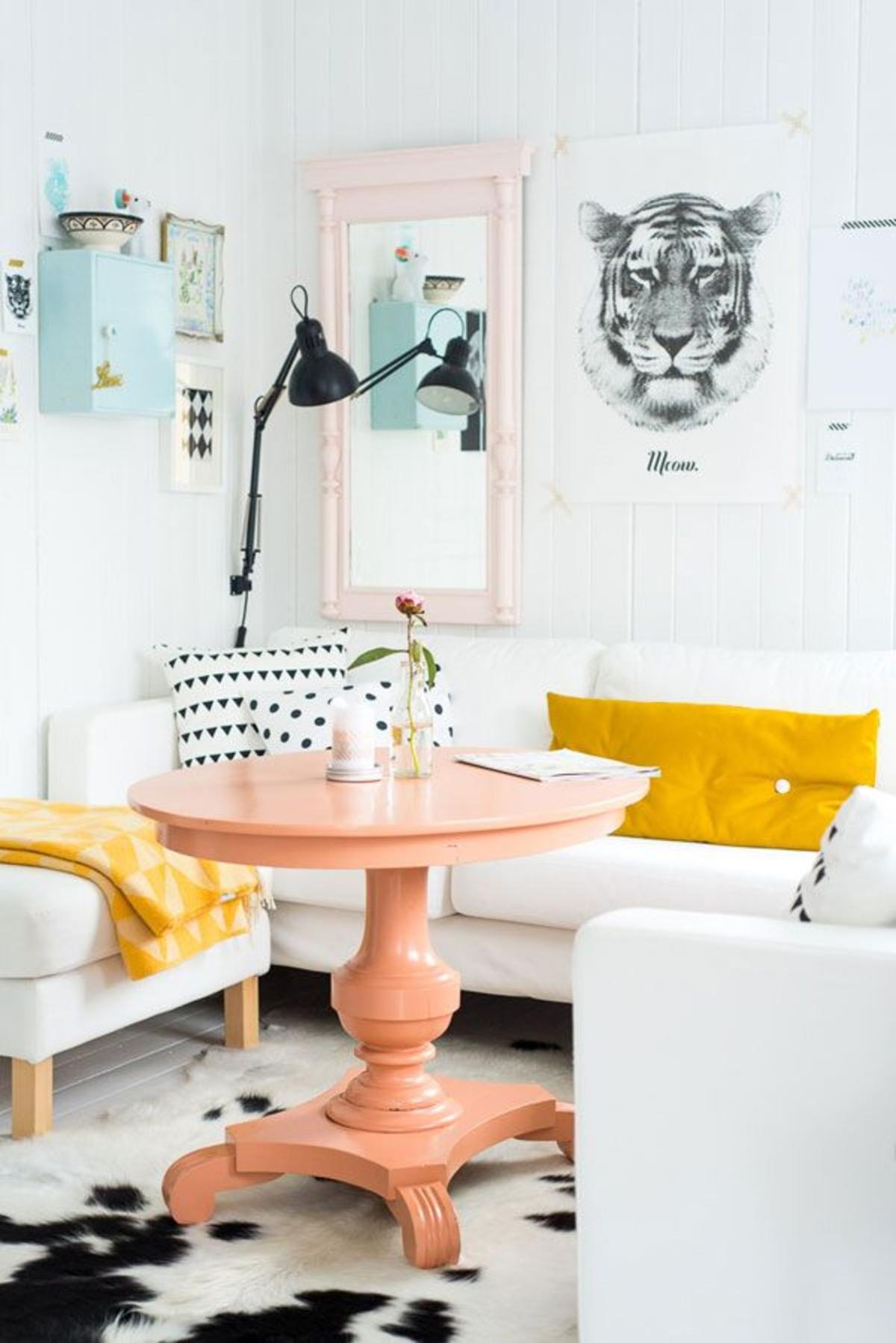 renovar muebles- mesa naranja