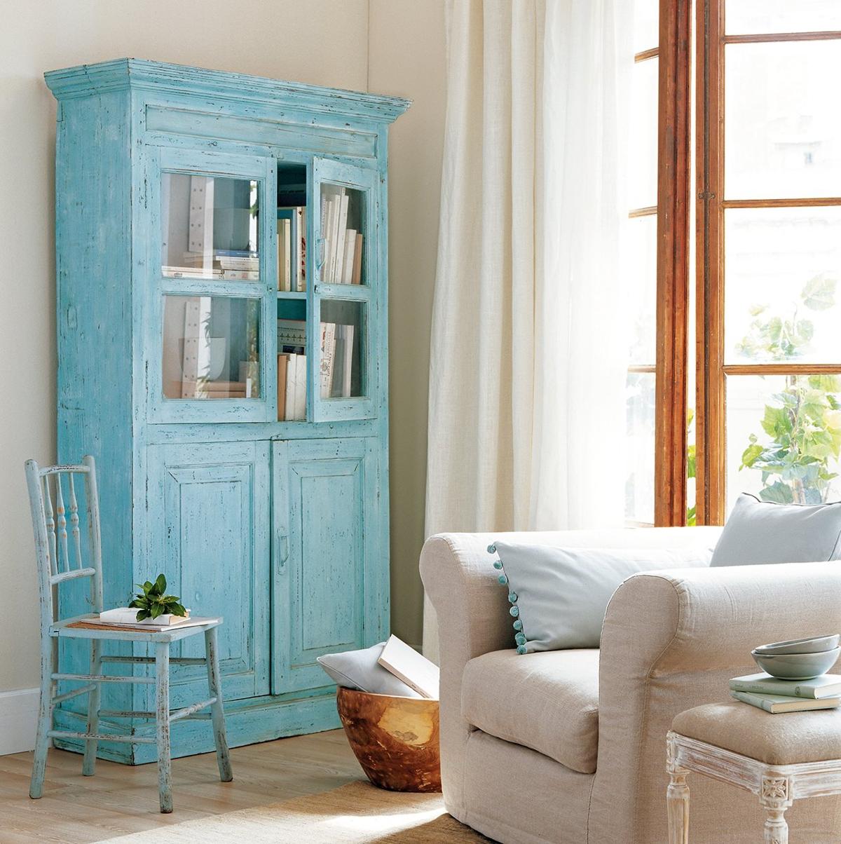 renovar muebles - mueble azul