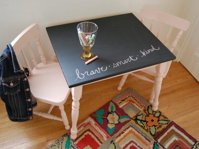 renovar muebles - mesa de pizarra