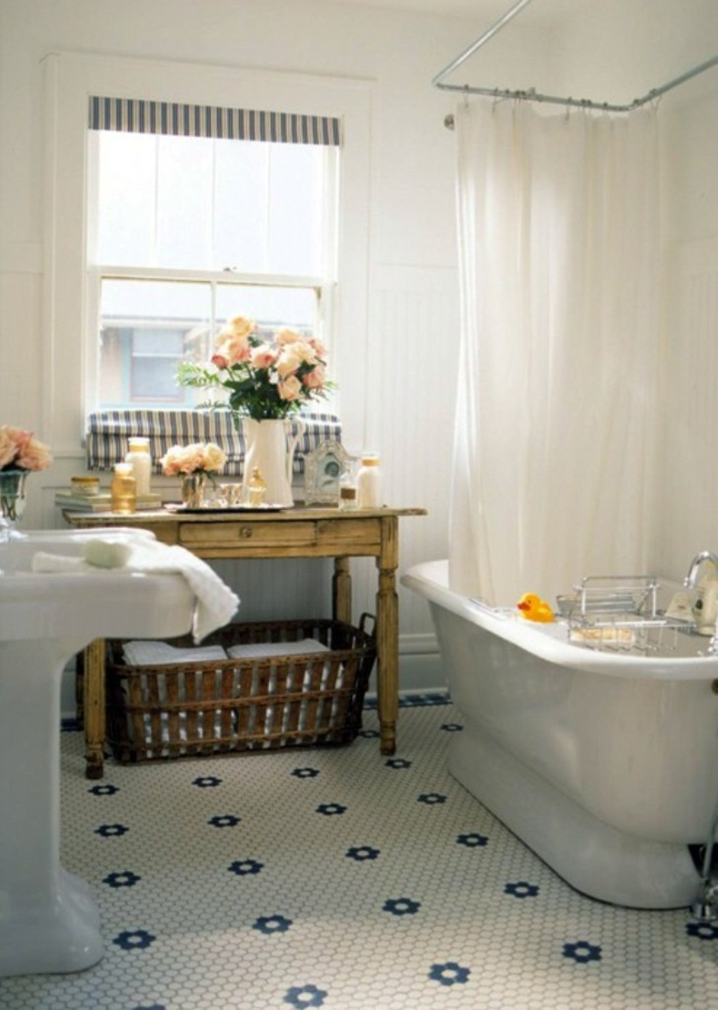 decoración de pisos antiguos - baño