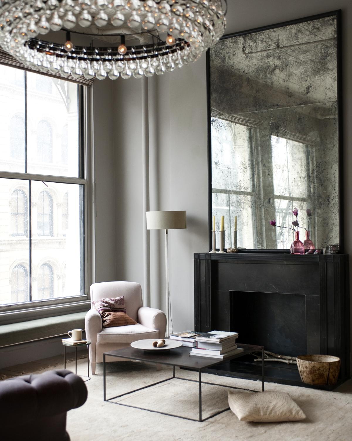 decoración de pisos antiguos - espejos