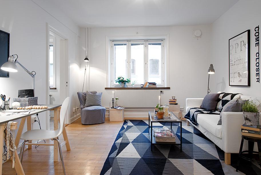 casas decoradas con Ikea - textiles estampados
