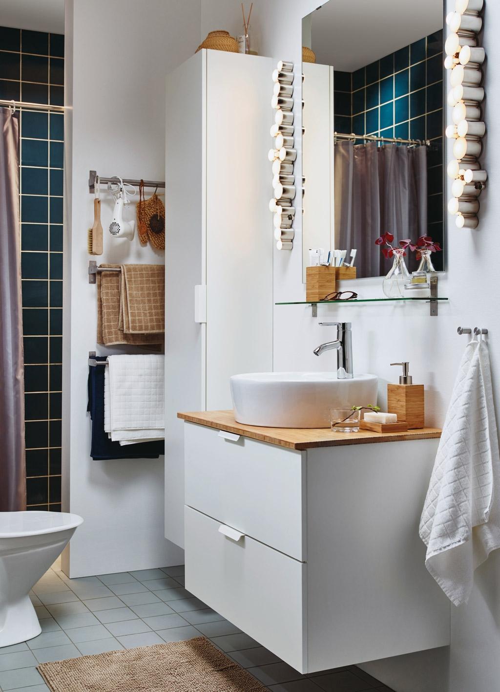 cortinas de baño ikea - con barra sujeción