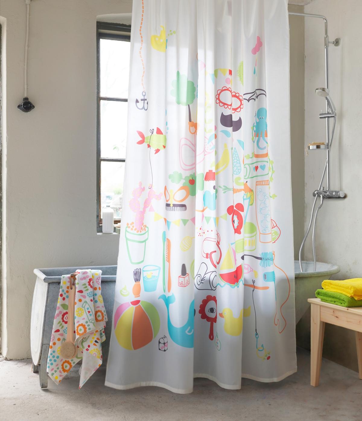 cortinas de baño ikea - en bañera
