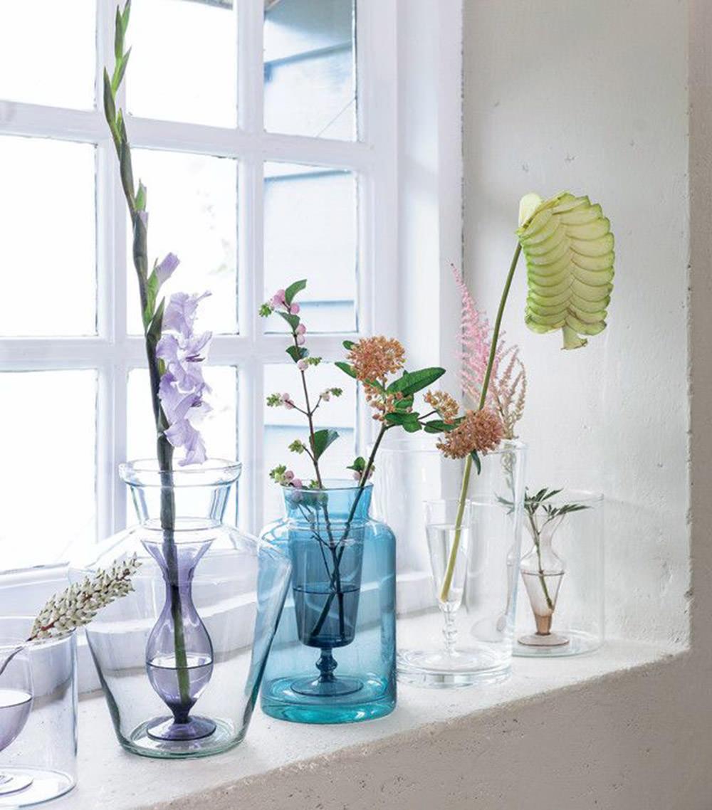 jarrones modernos de cristal