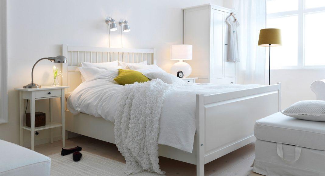 lámparas para el dormitorio - decoración en blanco