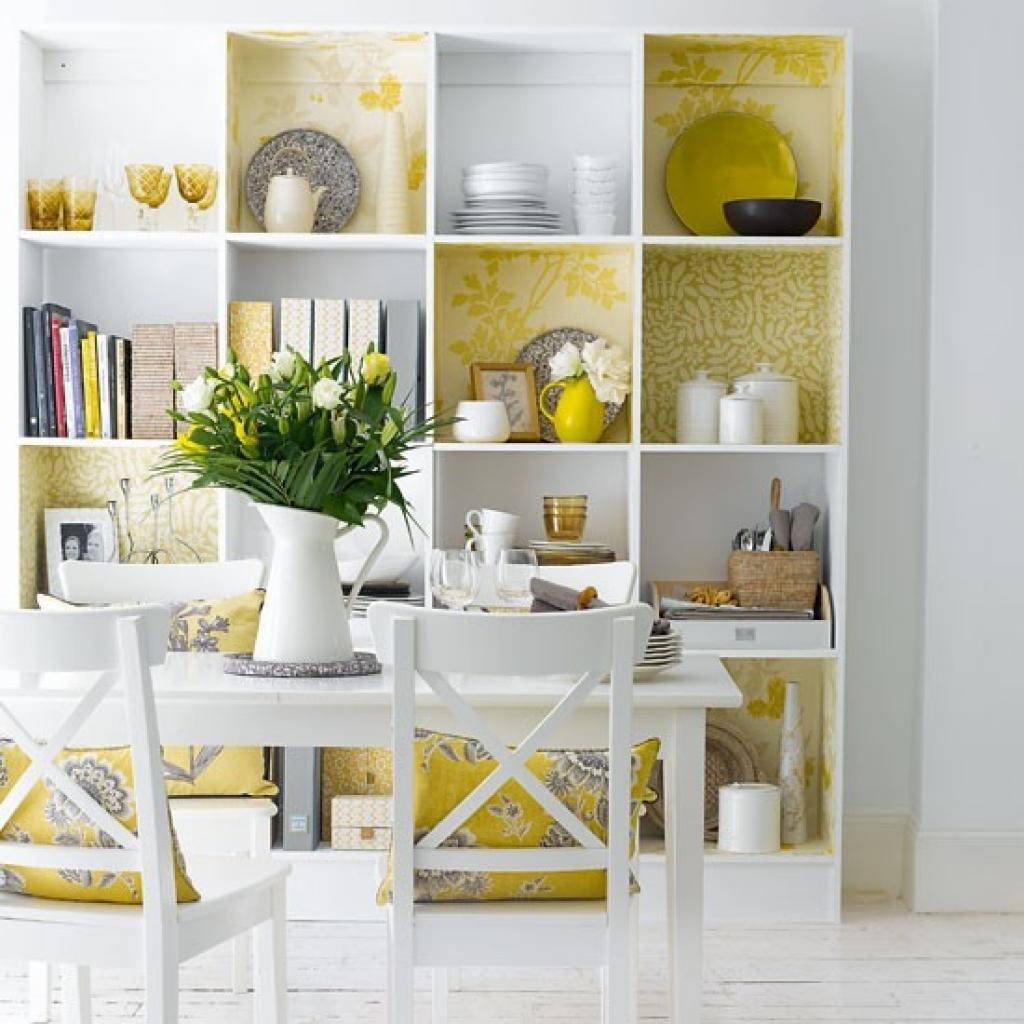 empapelar muebles - estanteria blanca
