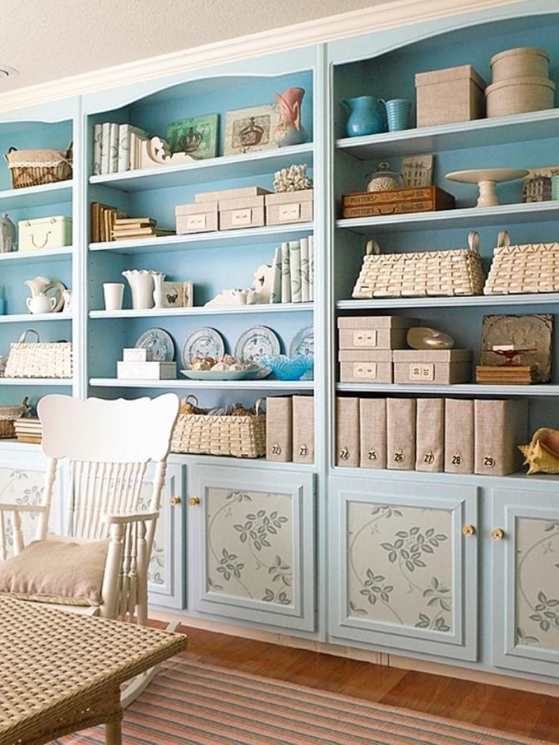 empapelar muebles - estanteria
