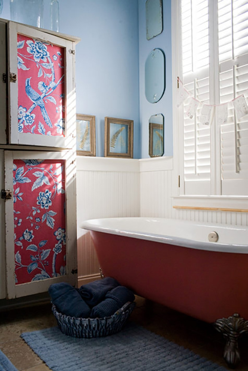 empapelar muebles - armario baño