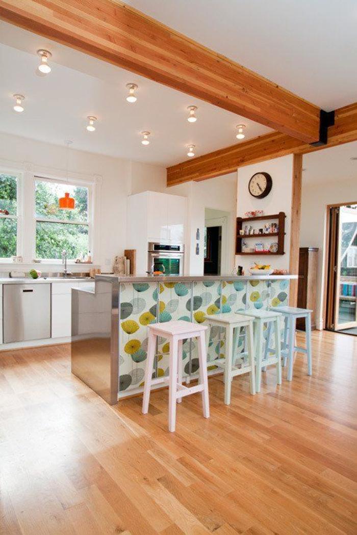 empapelar muebles - isla cocina