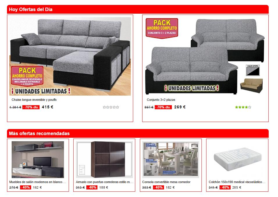 muebles baratos por Internet - Muebles Boom