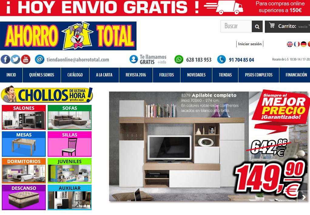 muebles baratos por Internet - Ahorro Total