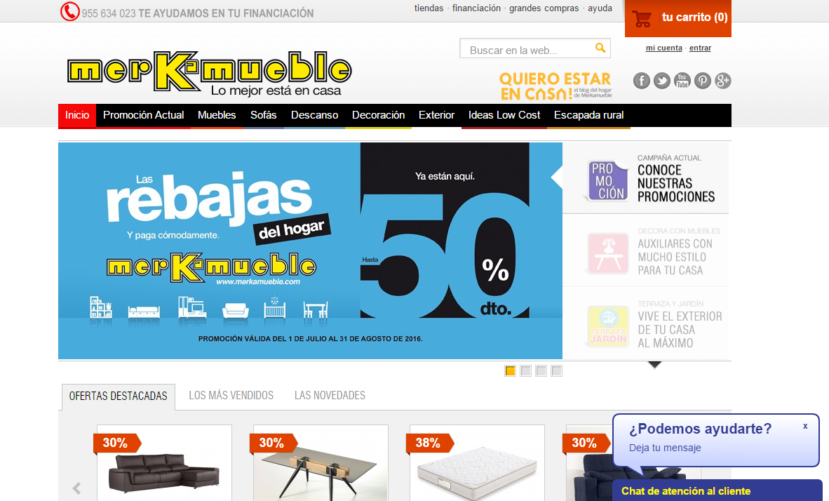 muebles baratos por Internet - Merkamueble