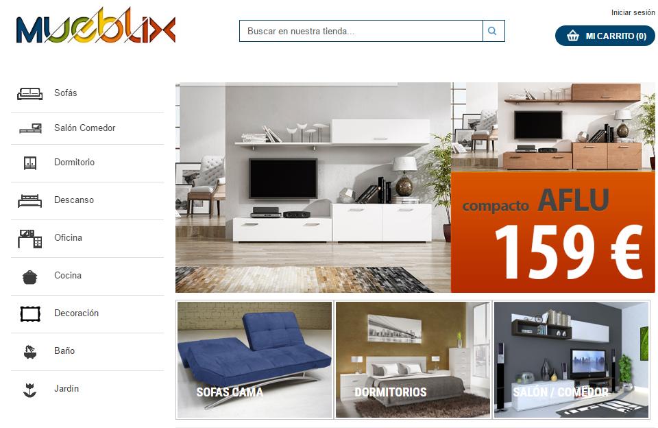 muebles baratos por Internet - Mueblix