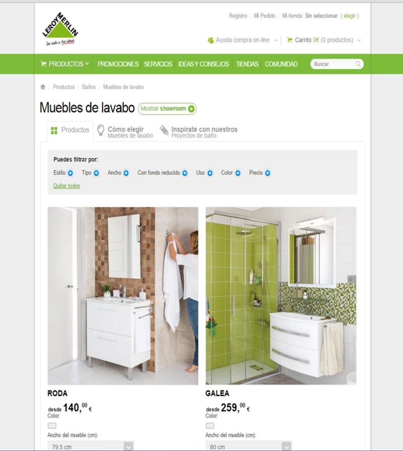 muebles de baño online- leroy merlin