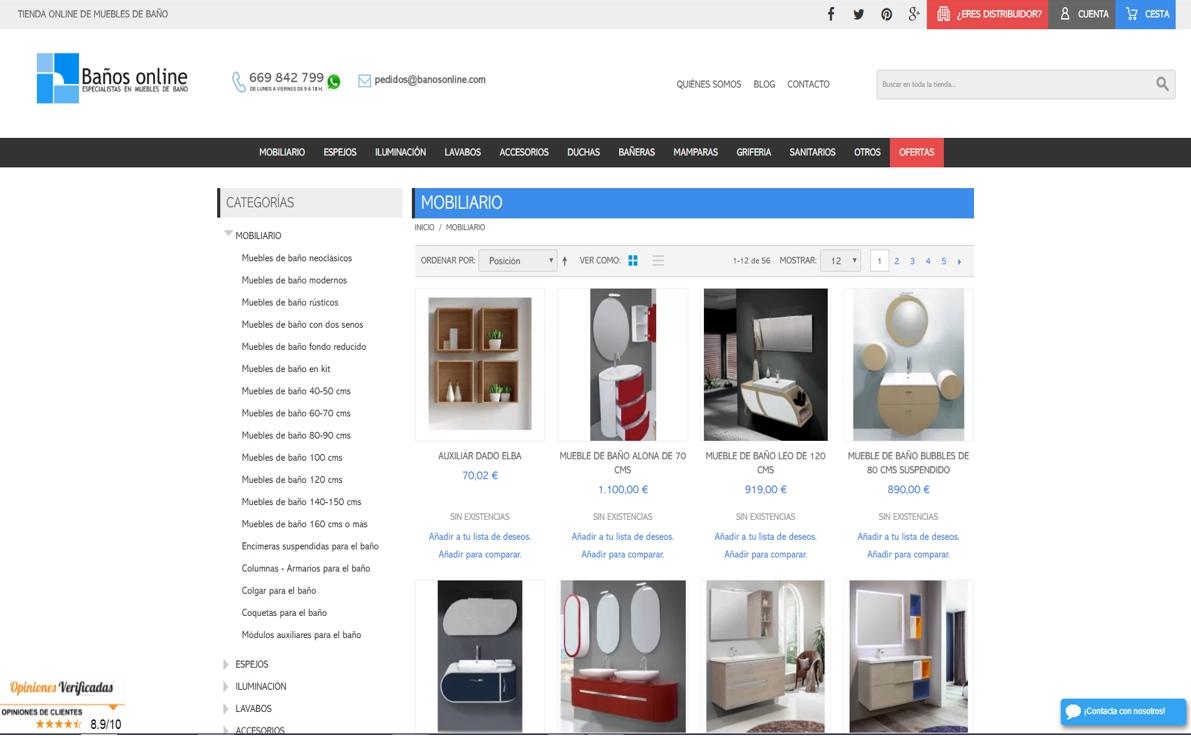 muebles de baño online- baños online