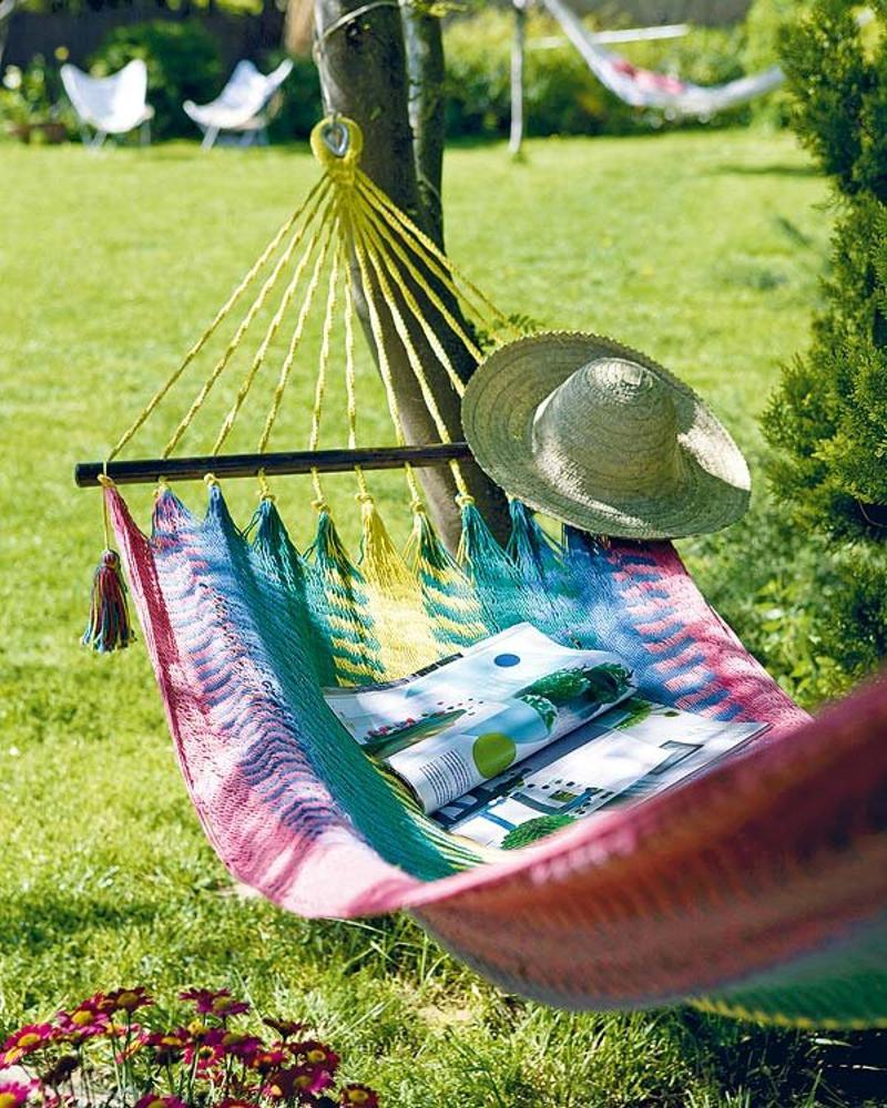Hamacas de verano de colores