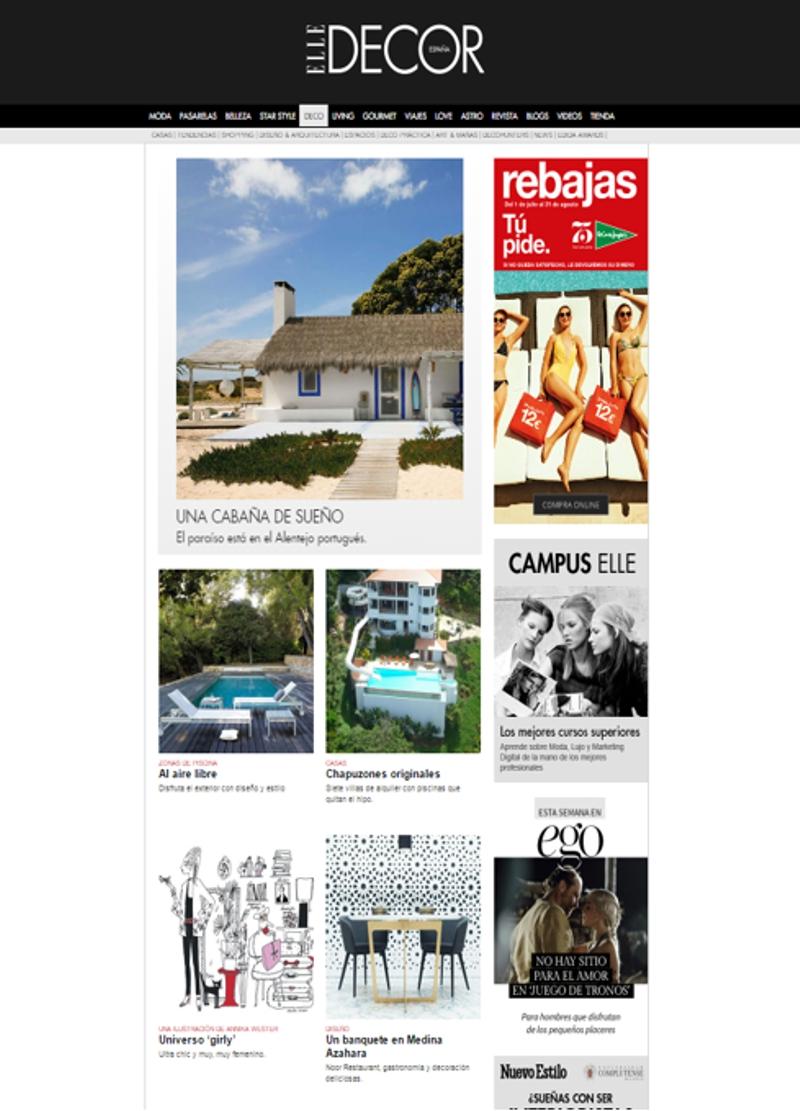 revistas de decoración - Elle deco