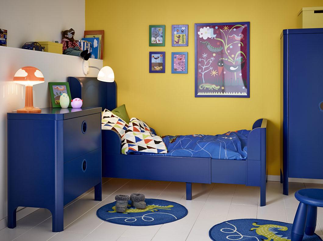 dormitorios infantiles de ikea con contrastes