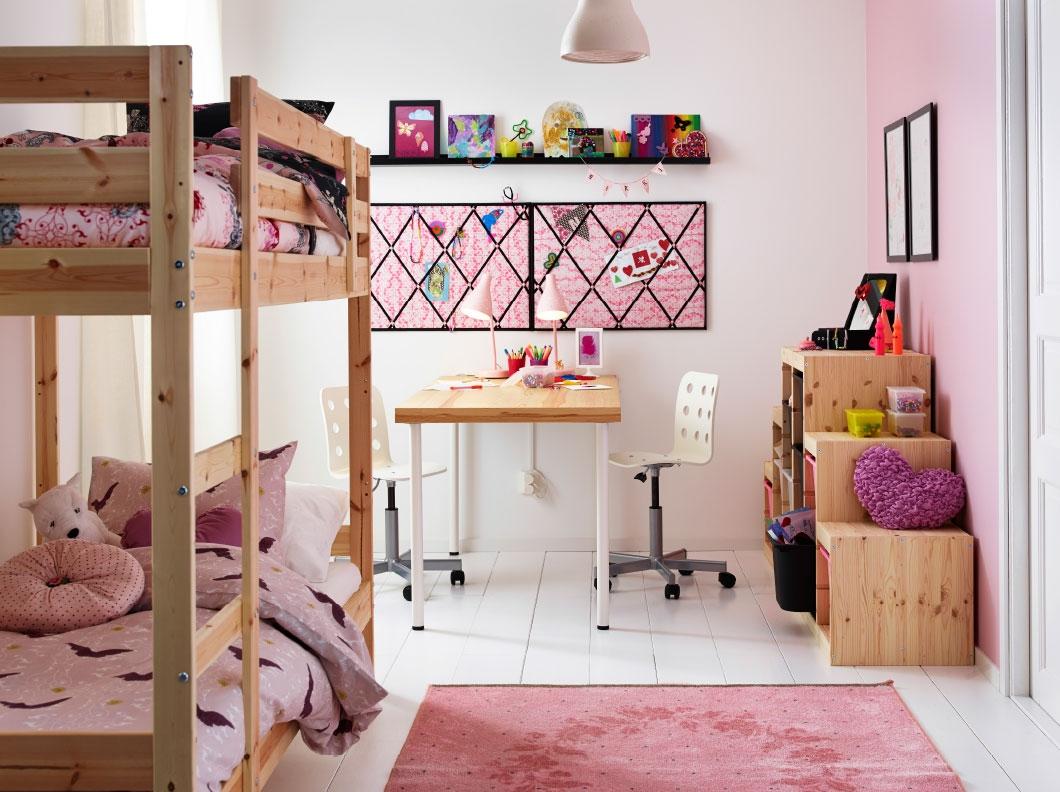 dormitorios infantiles de ikea en tonos pastel