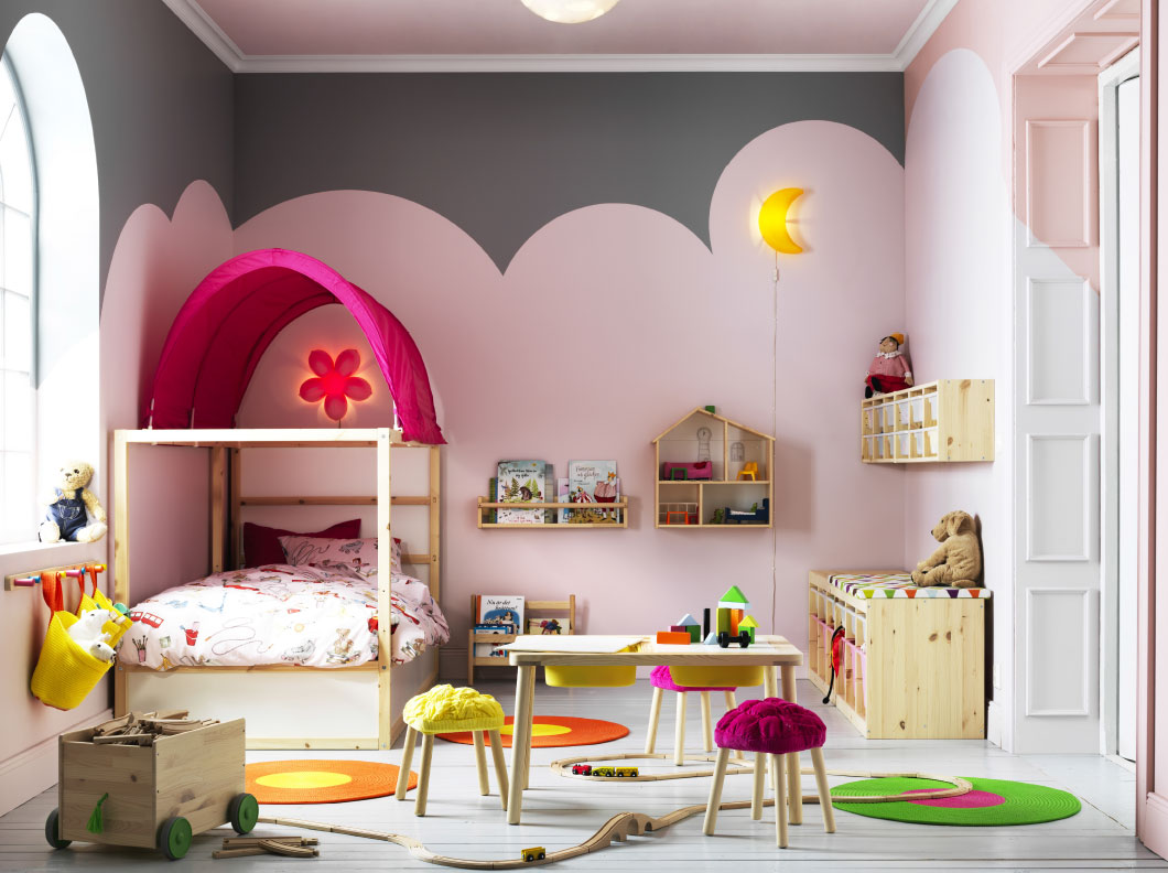 dormitorios infantiles de ikea de estilo romántico