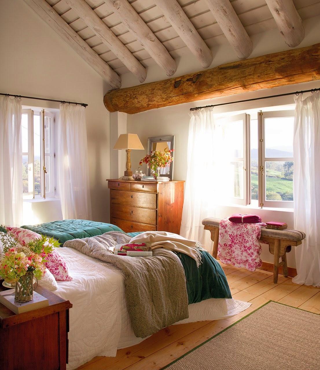 Cómo decorar una casa rústica - tejidos naturales
