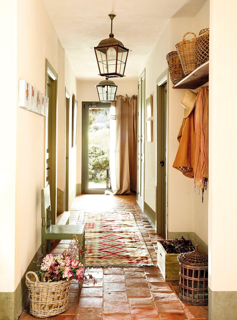 Cómo decorar una casa rústica - recibidor