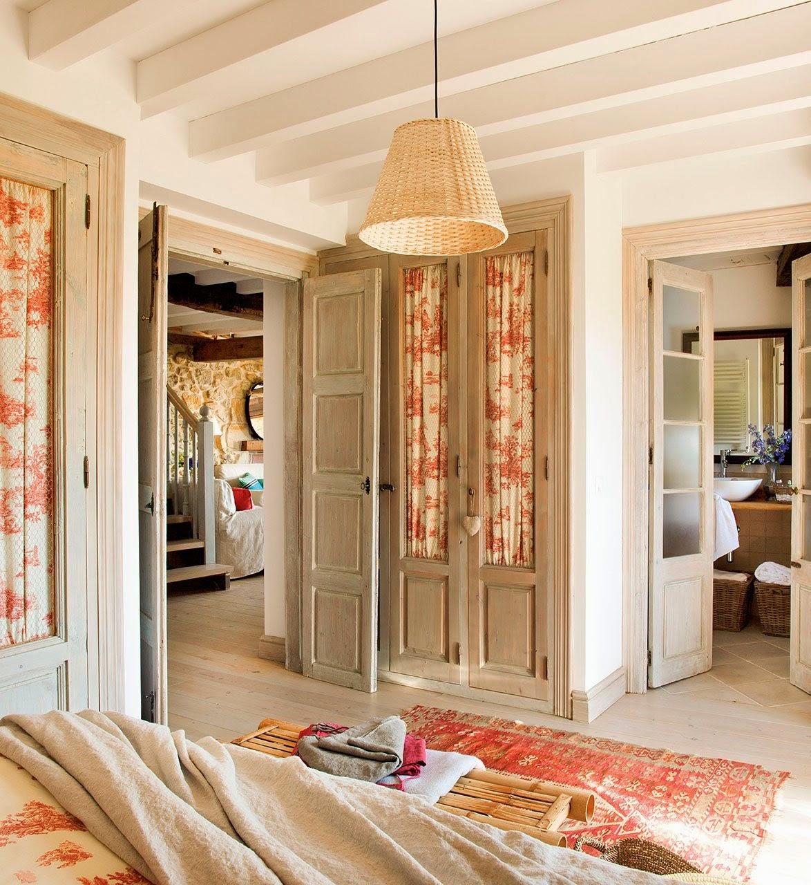 Cómo decorar una casa rústica - dormitorios